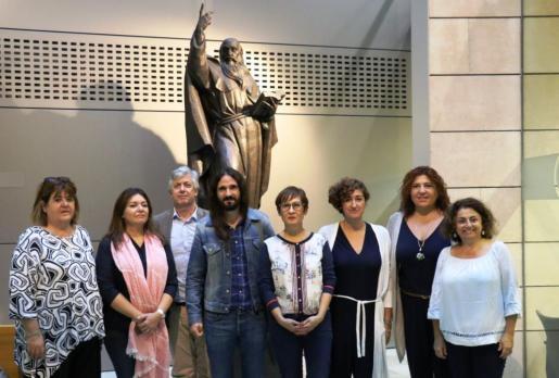 Componentes del intergrupo parlamentario 'Pau i Llibertat al Sàhara'.