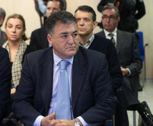 """El exdirector general de Deportes, José Luis """"Pepote"""" Ballester, en el banquillo de los acusados."""