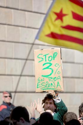 Los Mossos d'Esquadra detuvieron al empresario Álvaro de Marichalar (en la imagen durante la protesta de estudiantes).