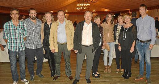 Pere Ginard, Juan Moyà, Coloma Fullana, Sebastià Moyà, Biel Moyà, Margalida Caballero, Bel Moyà, Bàrbara Servera, Margalida Canet y Joan Moyà.
