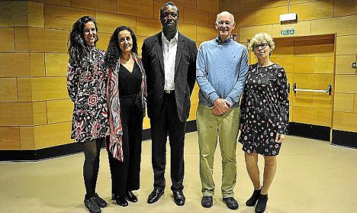 Esther Roig, Sina Ahidar, Thomas Hamilton, Peter Creaser y Maria Soler.