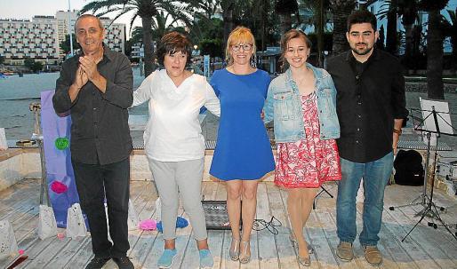 José María Pazos, Joana Maria Fernández, Sandra Santana, Rocío Mut y Pere Miquel Molina.