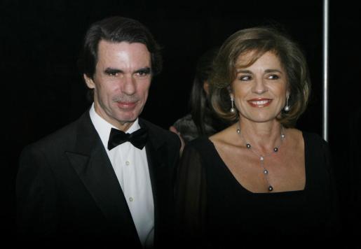 José María Aznar y Ana Botella en una imagen de archivo.