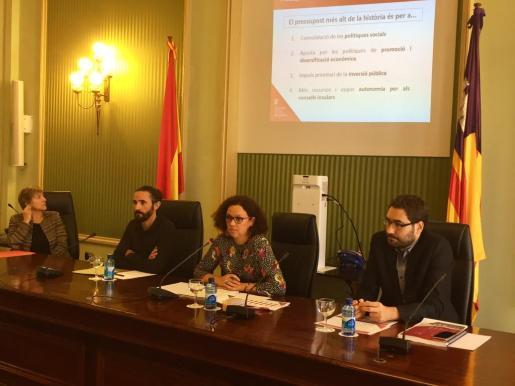 Presentación de las cuentas de Baleares para 2018, en las que de los 5.008 millones de euros presupuestados, un total de 1.020 millones seçán destinados a la deuda.