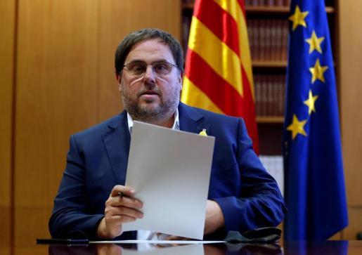 El vicepresidente cesado de la Generalitat, Oriol Junqueras.