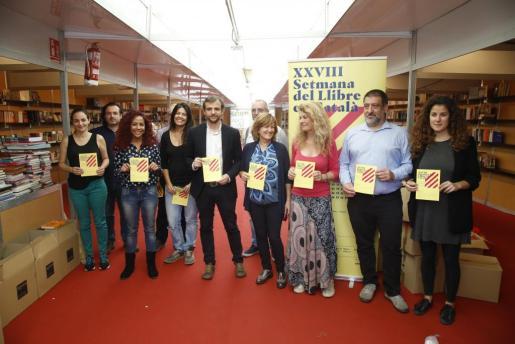 Responsables de algunas librerías y representantes de las instituciones colaboradoras en Palma.