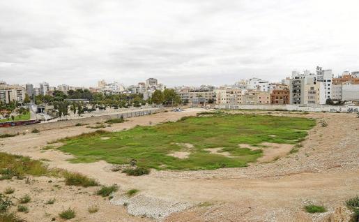 Imagen del solar donde estaba ubicado el Lluís Sitjar. El viejo campo fue derribado debido al estado de ruina que presentaba.