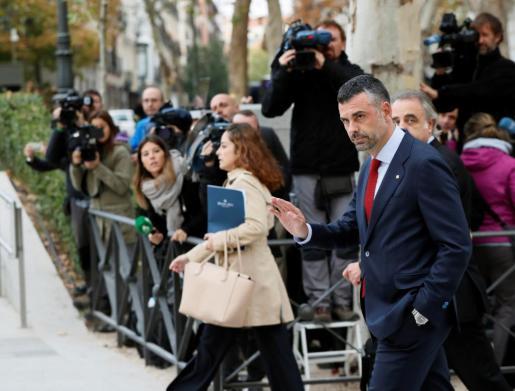 El exconseller de Empresa de la Generalitat Santi Vila, a su llegada a la Audiencia Nacional.