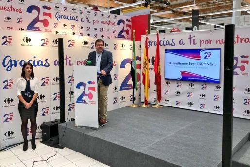 El presidente extremeño Guillermo Fernández Vara durante una intervención en un acto.