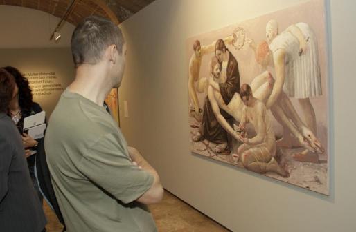 Detalle de la exposición 'Pietà' en el Casal Solleric.