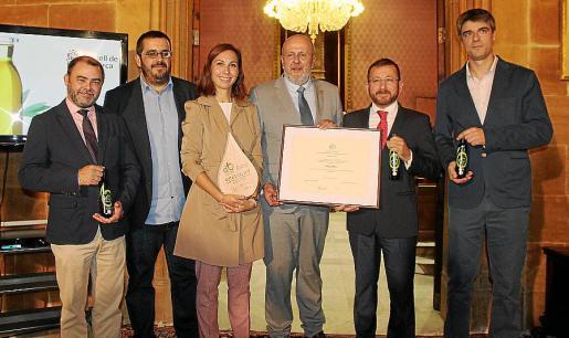 Cosme Bonet, Vicenç Vidal, la doctora Dora Romaguera, Miquel Ensenyat, el doctor Manuel Moñino y Sebastià Solivellas.