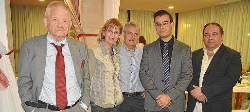 Toni Marí, Xisca Grimalt, Paco Fernández, Bernat Serra y Biel Serra.