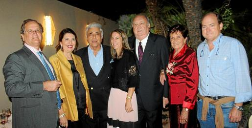 Nacho Deyá, Concha Calvo, Ramón Montis, Marta Dezcallar, Guillermo Dezcallar, Bénédicte de Luget y Luis Clar.