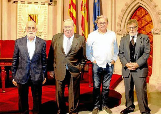 Manel Rull, Jerónimo Saavedra, Bernat Riutort y Joan March.