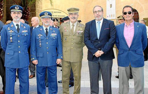 Manuel Aroca, Manuel Fernández- Roca, Máximo Romeral, presidente de honor de Asvepa; Antonio Emilio Jarabo y Juan Pablo Pradillo.