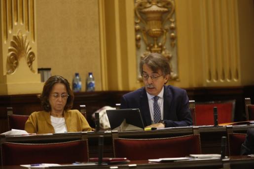 Imagen reciente del líder de Ciudadanos en Baleares, Xavier Pericay, en el hemiciclo.