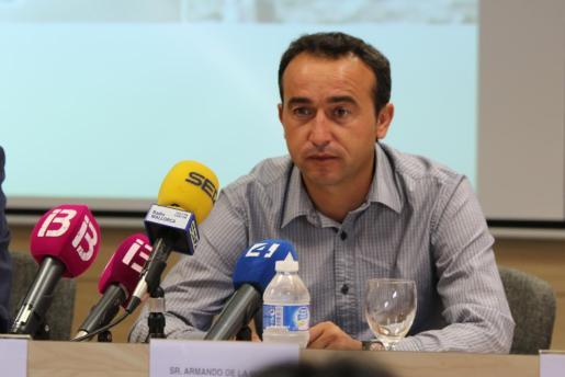 Armando de la Morena en rueda de prensa.