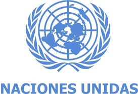 Logotipo institucional de la Organización de las Naciones Unidas, la ONU.