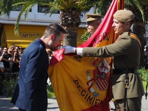 Jura de bandera civil en Santa Eulalia del Río, Ibiza.