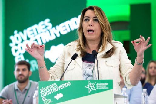 La secretaria general del PSOE andaluz y presidenta de la Junta, Susana Díaz.