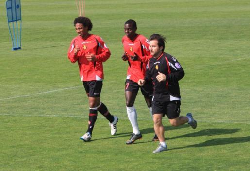 Pereira y Guzmán, durante un entrenamiento.