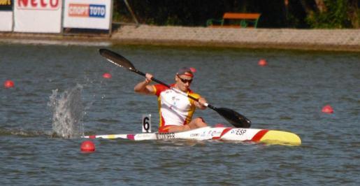 Marcus Copper durante una competición.