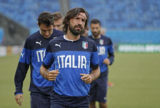 Andrea Pirlo con la selección italiana.