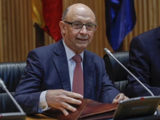 El ministro de Hacienda, durante una comparecencia en comisión en el Congreso de los Diputados.