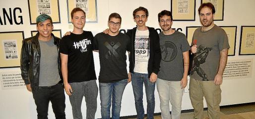 Andrés Segovia, Elvis Bautista, Alessandro Toesca, Vicente Sánchez, Carlos Serrano y Javier Linares.