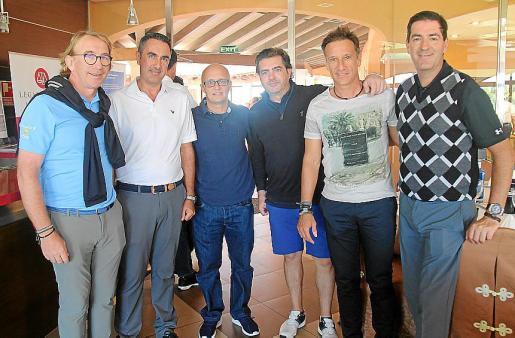 Dino Jaume, Ángel Paez, Richard Clarck, Emilio Rivas, Alfonso Pérez y Jaime Brunet.