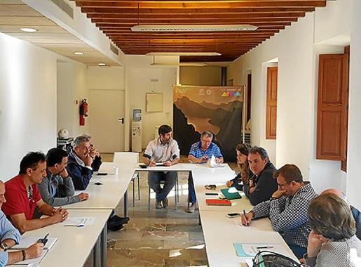 Imagen de la última reunión celebrada de la Mancomunitat de Tramuntana.