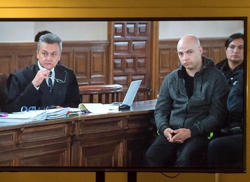 El acusado de asesinato, Sergio Morate, en la sala de juicios donde tuvo lugar la vista oral del juicio.