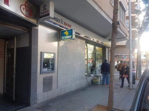El cajero ubicado en la Avenida Argentina.