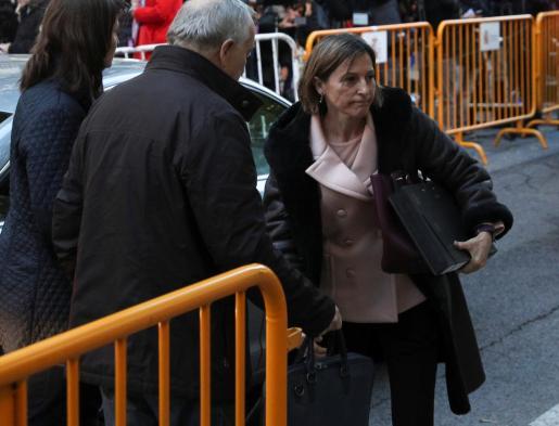 Carme Forcadell, a su llegada para declarar ante el Tribunal Supremo.