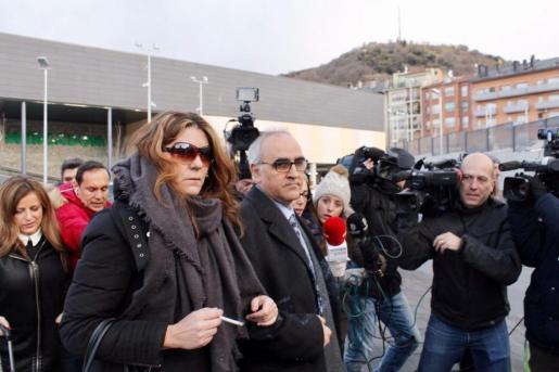 Margarita Garau, la madre de Nadia, cuando declaró ante el juez por la otra causa abierta.