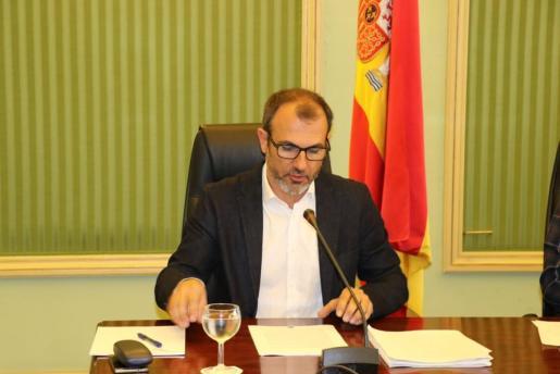 Intervención de Biel Barceló este jueves en el Parlament.