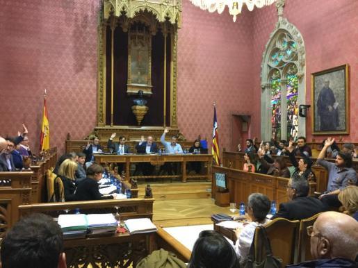 Momento del pleno del Consell de Mallorca.