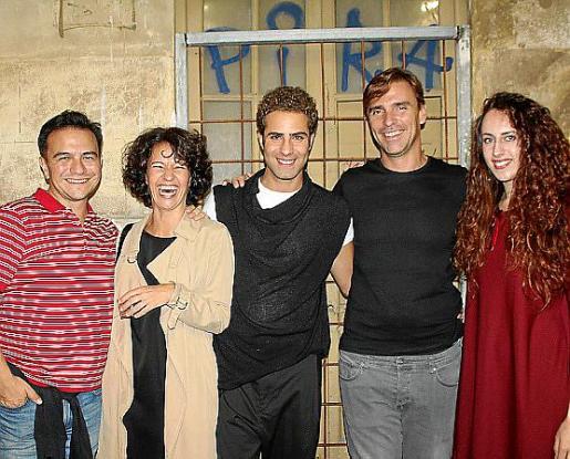 Alfredo Navarro, Alexandra Palomo, Juan Carlos Piñero, Alvar Servera y Esperanza Llabrés.