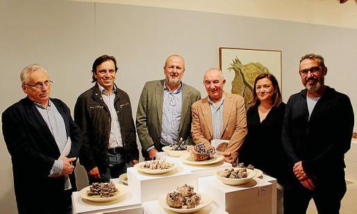 Guillem Frontera, Francesc Miralles, Miquel Ensenyat, Andreu Maimó, Mercedes Garrido y Rafel Creu.