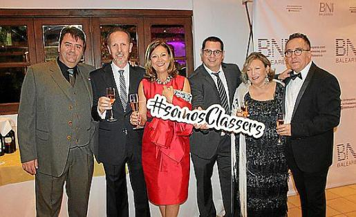 Martín Moyá, Gabriel Barragán, Dolors Colom, Carlos Gost, Mercedes Martínez y Vicente Núñez.