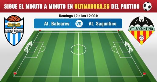 Atlético Baleares-Atlético Saguntino, en vivo