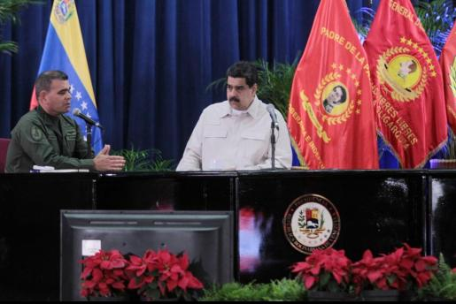 Fotografía cedida por la Agencia Venezolana de Noticias del presidente venezolano, Nicolás Maduro,durante una reunión la pasada semana.