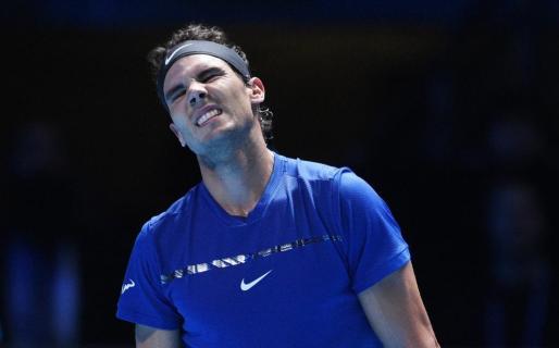 Rafael Nadal durante su partido contra el belga David Goffin.