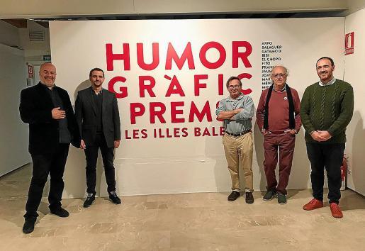 Rafel Vaquer, Llorenç Carrió, Pere Joan, Pep Roig y Alejandro Ysasi, durante la presentación.