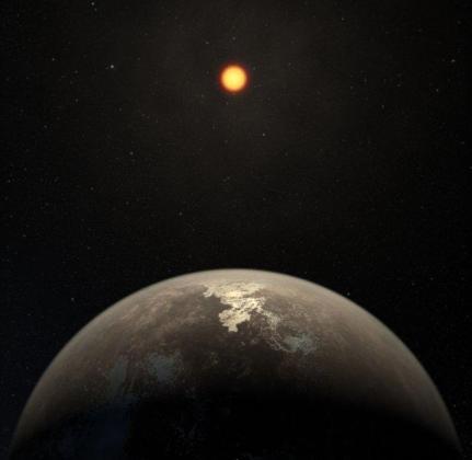 Imagen compartida por el Instituto de Astrofísica de Canarias sobre el último planeta descubierto como candidato a albergar vida.