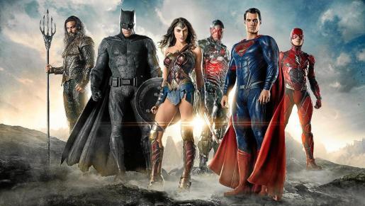 Cartel de 'La liga de la justicia', con todos los superhéroes de DC.
