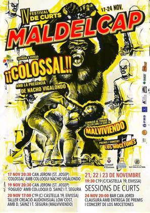 Cartel de la cuarta edición del festival internacional de cortos Mal del Cap.