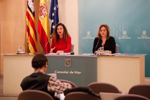 Pilar Costa y Fanny Tur comparecen este viernes tras el Consell de Govern.