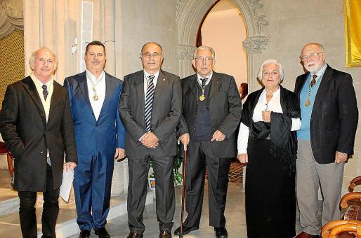 Ñaco Fabré, Andreu Riera, Josep Prohens, Rafael Perelló Paradelo, Carmen Vila y Román Piña.