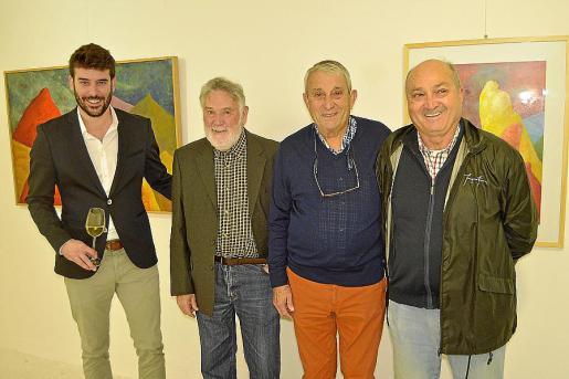 Biel Perelló, Joan Lacomba, Biel Perelló y Magí Janer.